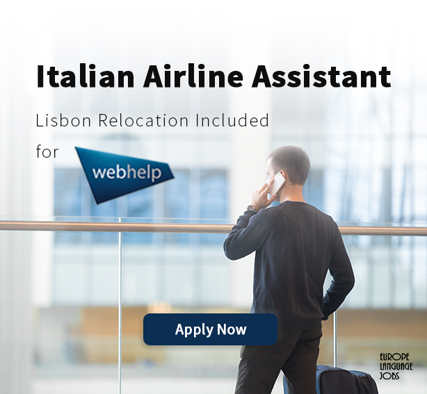 Italian airline assistant offer by Webhelp at Europe Language Jobs